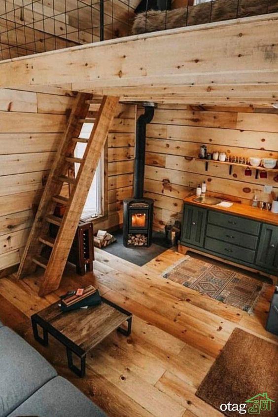 نمونه هایی عالی از دکوراسیون داخلی منزل با چوب طبیعی