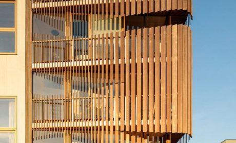 35 مدل نمای چوبی ساختمان مدرن و هوشمندانه در سال 2020