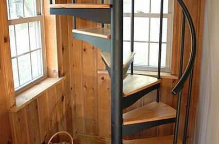 28 مدل راه پله شیک جدید و مارپیچی از چوب و استیل