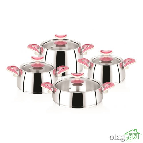 خرید 42 مدل سرویس قابلمه آشپزخانه مدرن ( 2 تا 22 پارچه ) شیک و فانتزی