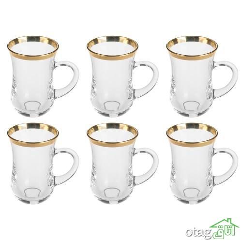 خرید 41 مدل استکان چای فانتزی و شیک [ کمر باریک ] با تخفیف
