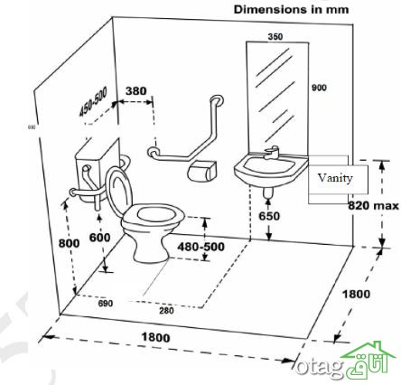 7 نکته مهم طراحی سرویس بهداشتی امروزی و شیک + 24 ست لوازم دستشویی