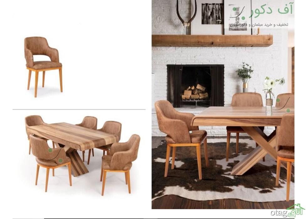 راهنمای صندلی و میز ناهار خوری چوبی، کم جا و جدید