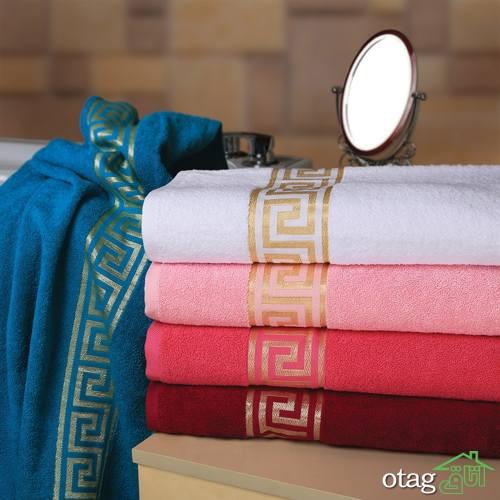 خرید 20 مدل حوله حمام نرم و راحت [ فانتزی و مدرن ] ارسال رایگان