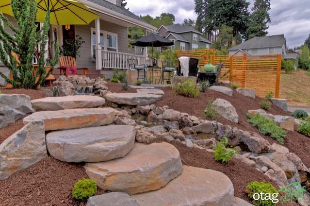7 ایده محوطه سازی [خاص و متفاوت] با سنگ و صخره