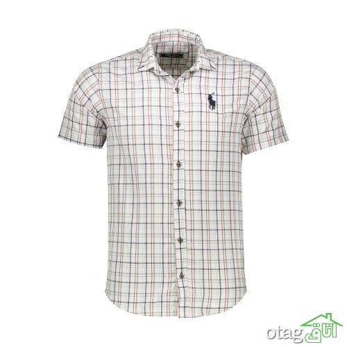 خرید 39 مدل پیراهن آستین کوتاه مردانه اسپورت [ مدلهای سال جدید ] با تخفیف