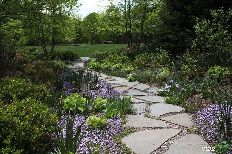 7 ایده برتر برای [ چینش و اجرای ] سنگ فرش باغ
