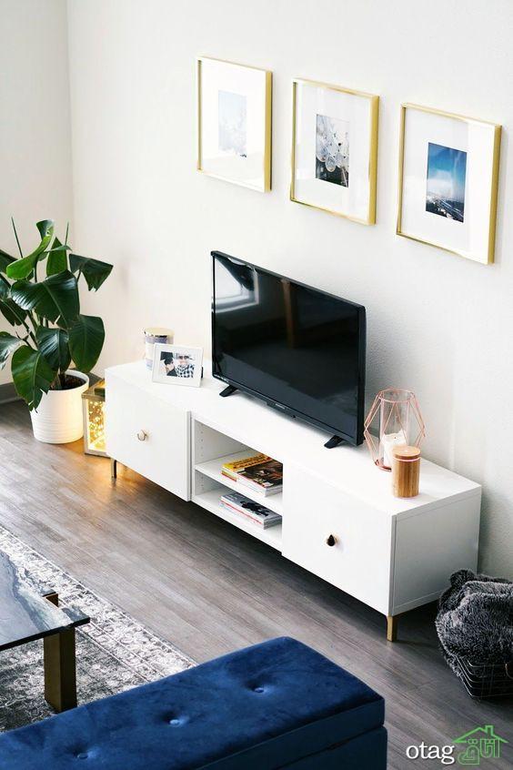 جدیدترین مدلهای میز تلویزیون کلاسیک [ 9 مدل جدید ]