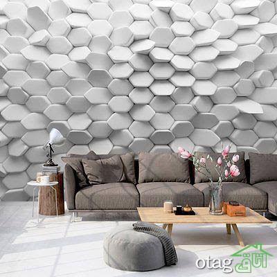 کاغذ دیواری سه بعدی چیست و چه ویژگی هایی دارد؟ [ معرفی 8 مدل سه بعدی ]