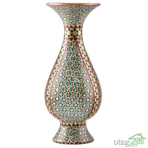 خرید 41 مدل گلدان خاتم کاری [ طرحهای بی نظیر ] قیمت ارزان