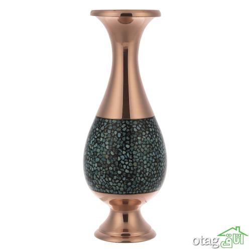 خرید 40 مدل ظروف فیروزه کوب [گلدان، آینه شمعدان] ارسال رایگان