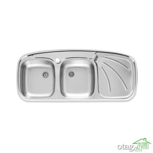 قیمت 41 مدل بهترین سینک ظرفشویی [ اخوان، البزر … ] لینک خرید