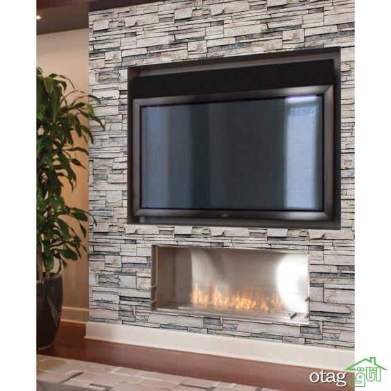 کاغذ دیواری پشت تلویزیون چیست؟ [10 نمونه کاربردی]