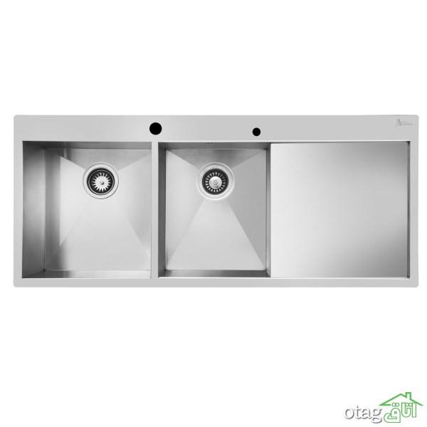 24 مدل سینک ظرفشویی آشپزخانه فلزی و سرامیکی جدید [منحصر بفرد] سال 1400