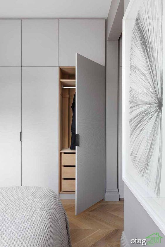 کمد دیواری اتاق خواب چه ویژگی هایی دارد؟  [ 8 نمونه ساده]