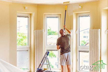 مراحل رنگ آمیزی سقف منزل [5 سبک جدید]