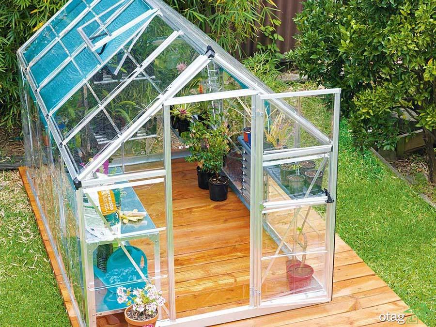 5 ایده برای ساخت گلخانه در حیاط منزل