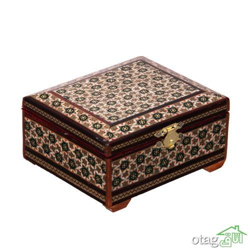 خرید 39  مدل جعبه خاتم کاری شیک [ جعبه سکه، قرآن، جواهر ] ارسال رایگان