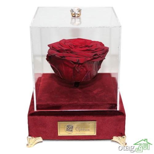 خرید 41 مدل جعبه گل رز جاویدان  [هدیه به یاد ماندنی ] ارزان