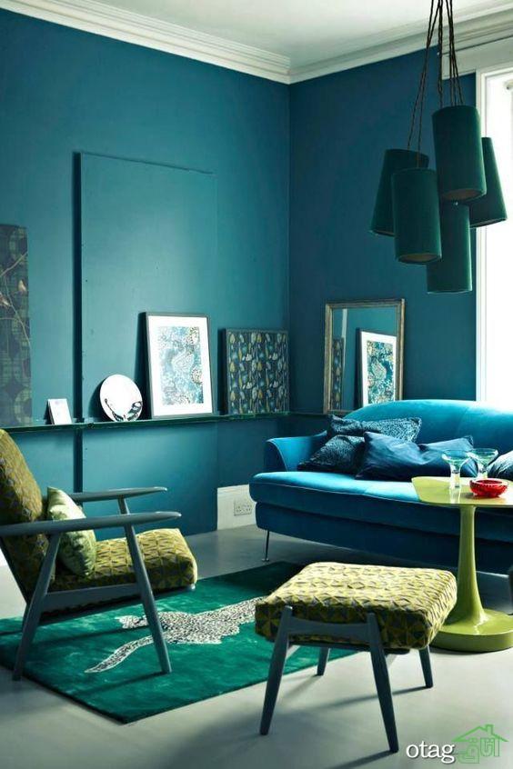 برترین مکمل رنگ فیروزه ای در دکوراسیون کدامند؟