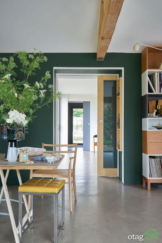 14 نمونه رنگ سبز سدری در دکوراسیون و رنگهای خنثی