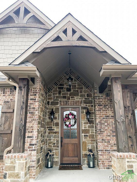 استفاده از نمای ترکیبی سنگ و چوب در نماسازی مدرن ساختمان