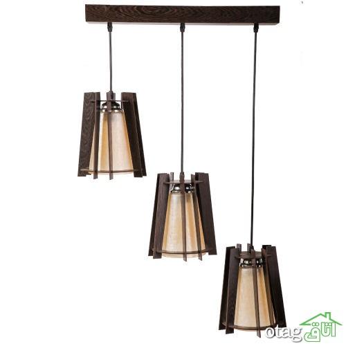 خرید 41  مدل لوستر سه شاخه ی آویزی  ویژه  برای  منزل و دفتر کار مدرن