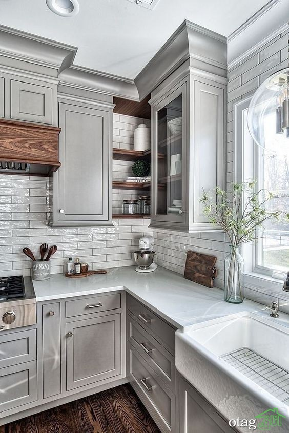 15 نمونه از چشم نوازی دکوراسیون آشپزخانه چوبی