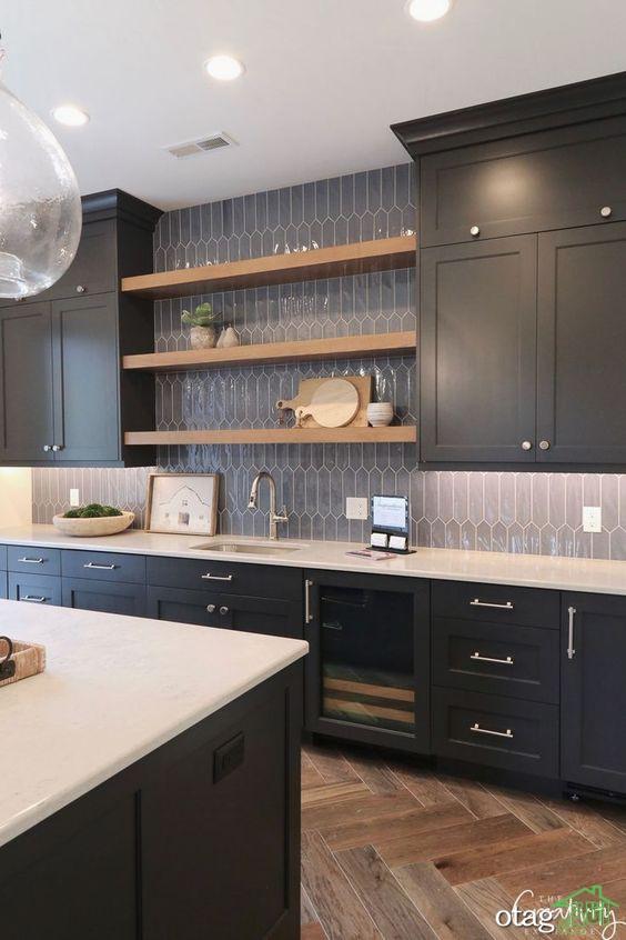 اصول طراحی دکوراسیون آشپزخانه تیره، مشکی، شکلاتی، نسکافه ای یا قهوه ای؟