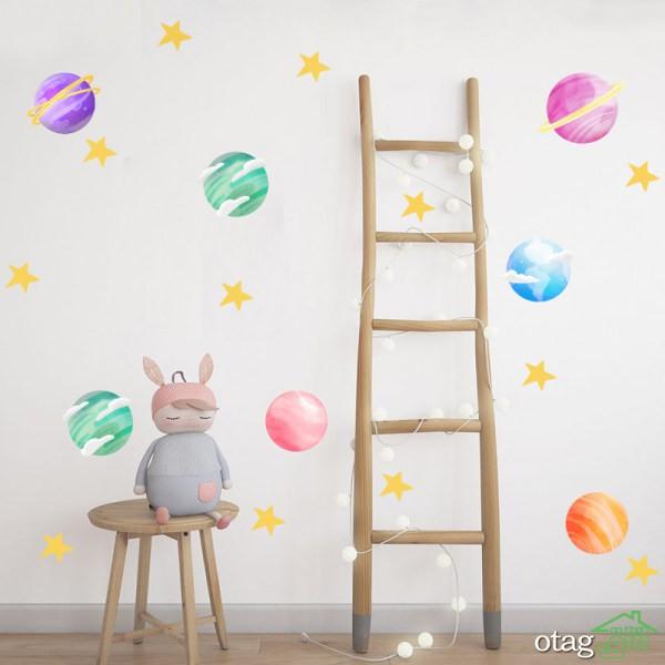 39 مدل استیکر اتاق کودک، دخترانه و پسرانه + خرید اینترنتی