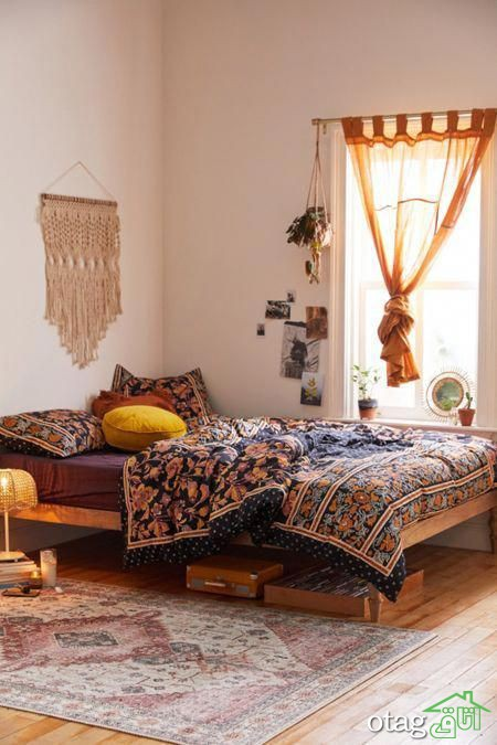 دکوراسیون اتاق خواب بهاری،ساده و ارزان با چند وسیله ساده