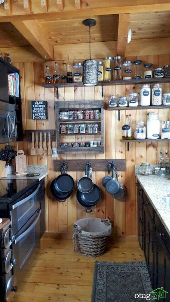 دکوراسیون آشپزخانه روستیک و عناصر مهم در آن