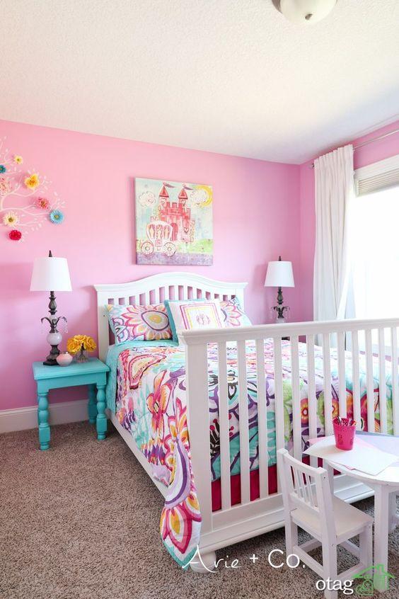 چه رنگی  مناسب دکوراسیون اتاق دخترانه است؟ فقط صورتی ؟!