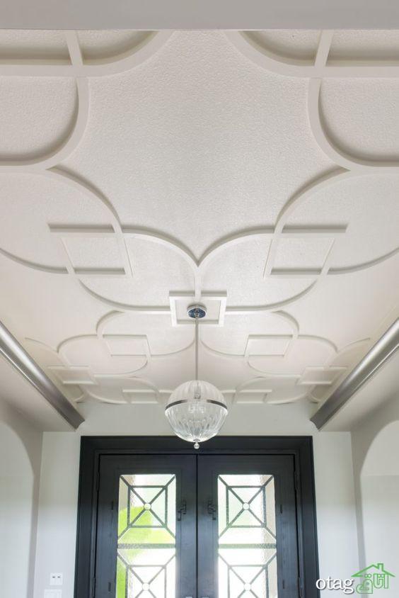 گچبری مدرن سقف پذیرایی، از اجرا تا نورپردازی