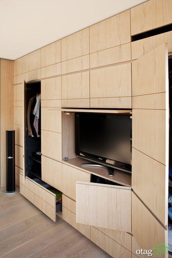 خودتان بسازید،راهنمای گام به گام ساخت کمد دیواری تلویزیون
