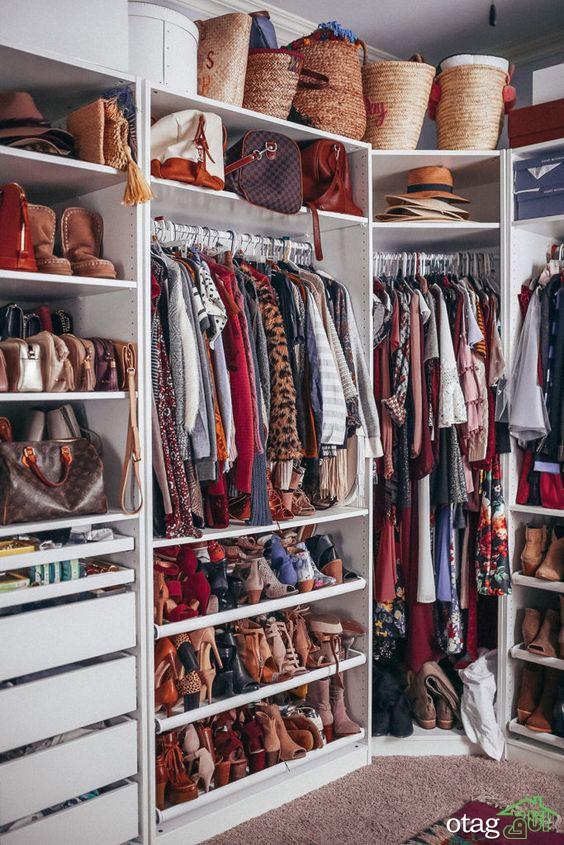 آیا کمد لباس شما در حال خفه شدن است؟ اشتباهات چیدمان کمد لباس و رفع آن