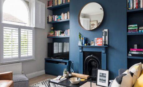 بررسی 4 طیف رنگ آبی در اتاق نشیمن و اتاق خواب
