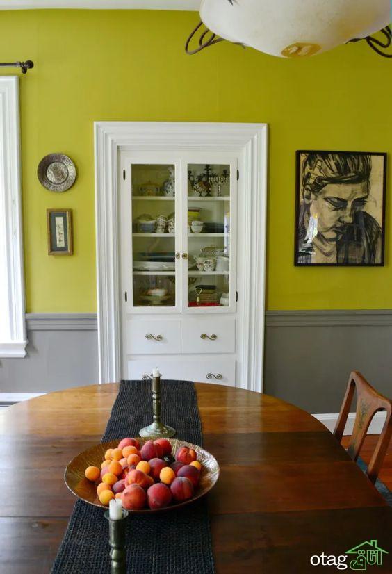 نحوه استفاده از رنگ زیتونی در ترکیب با سایر رنگ ها