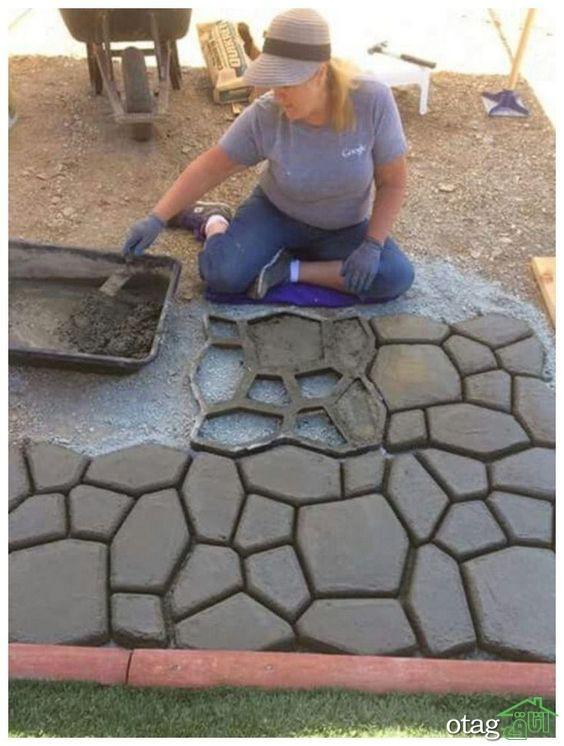 ساخت سنگفرش در چهار مرحله، ایده آل برای حیاط و باغ