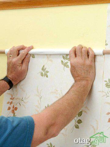 آشنایی با اصول و نحوه شستشوی کاغذ دیواری