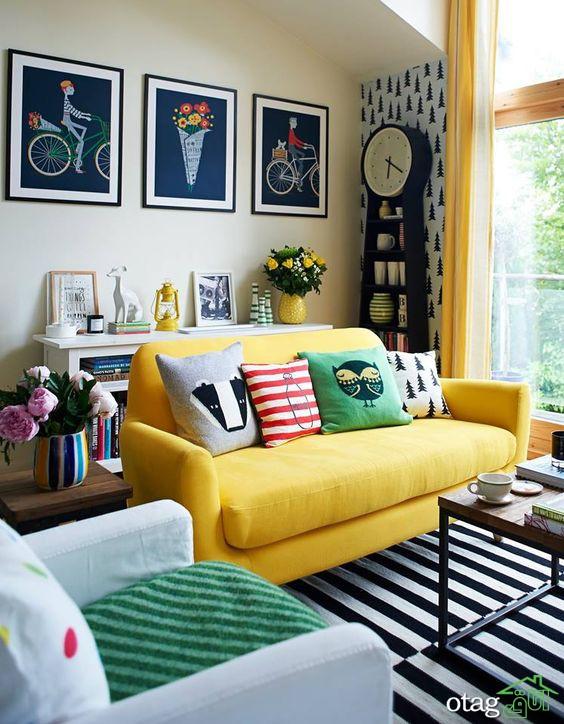 نکات اصولی استفاده از مبل رنگارنگ در دکوراسیون داخلی