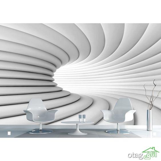 آشنایی با کاربرد انواع مدل های کاغذ دیواری سه بعدی