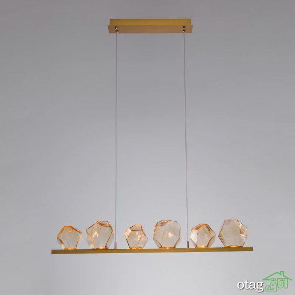 بیش از 30 مدل لامپ آویز تزیینی مناسب میز اُپن و ناهارخوری