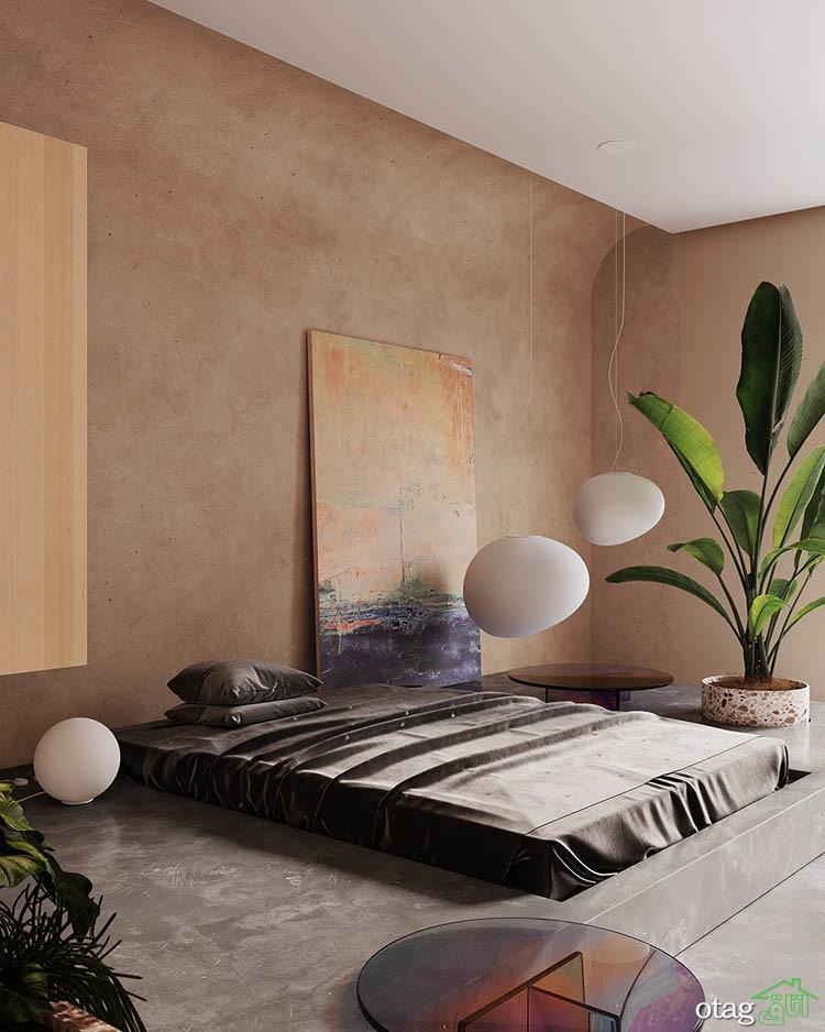 طراحی داخلی مدرن دو آپارتمان 85 متری با رنگ غالب بژ