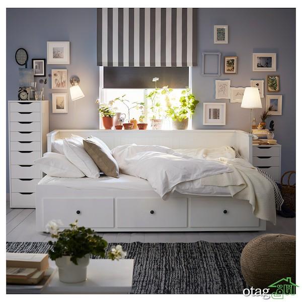 مدل های جدید تخت خواب مبلی ساده و شیک مناسب اتاق و نشیمن