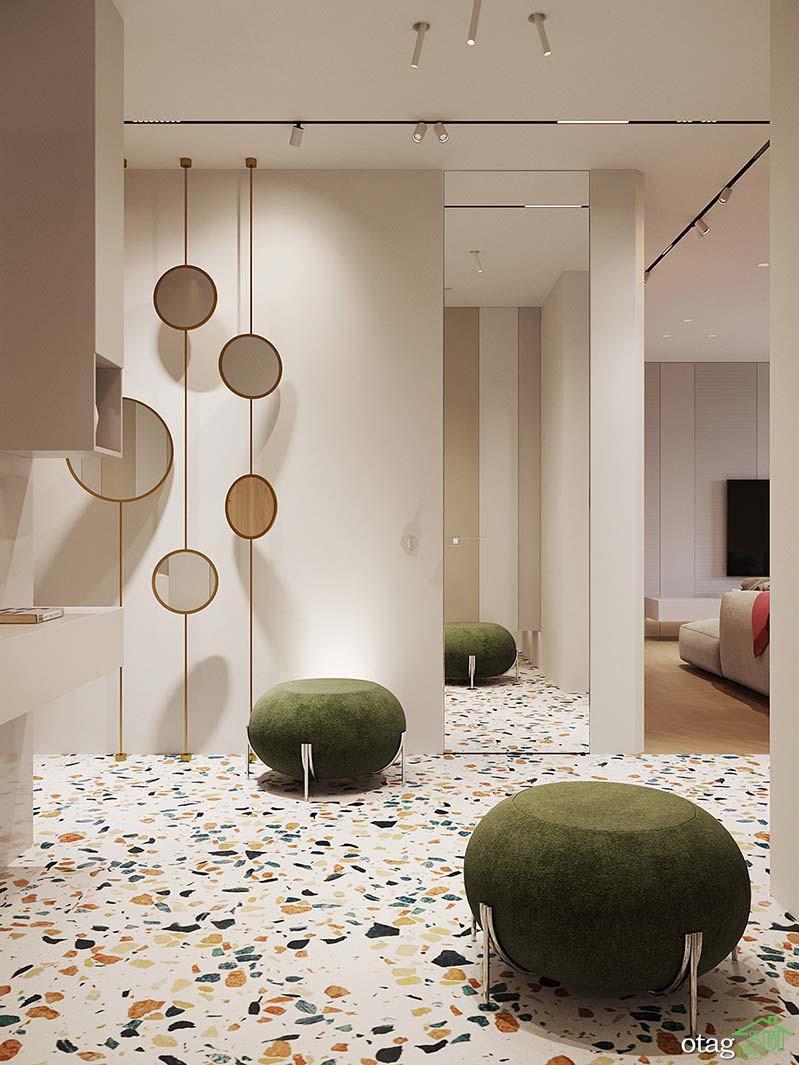 نمای داخلی ساختمان 150 متری تزیین شده به روش مدرن و سنتی