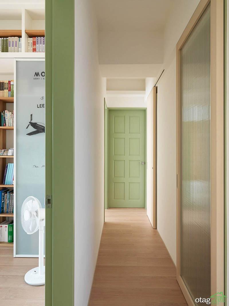 طراحی دکوراسیون آپارتمان های 85 متری و کوچک تر بهمراه پلان