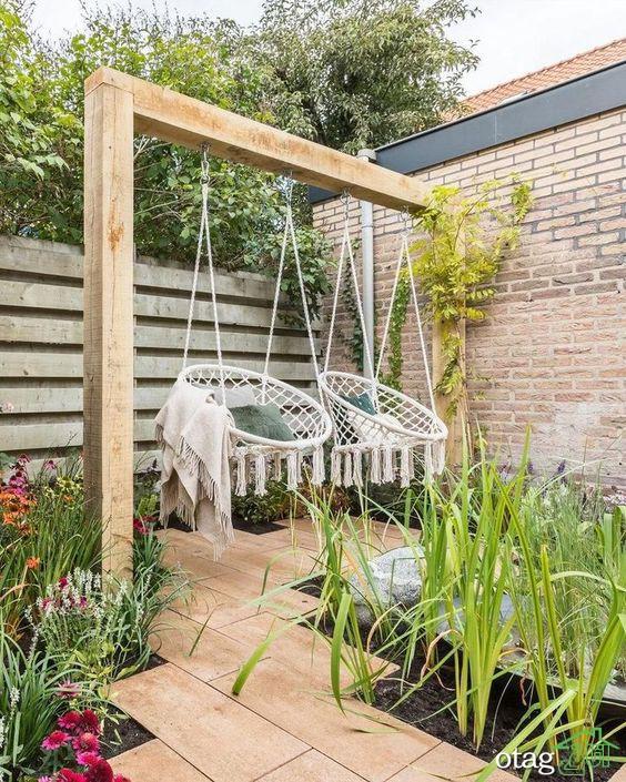 مدل تاب تفریحی برای تزیین حیاط و دکوراسیون خارجی منازل