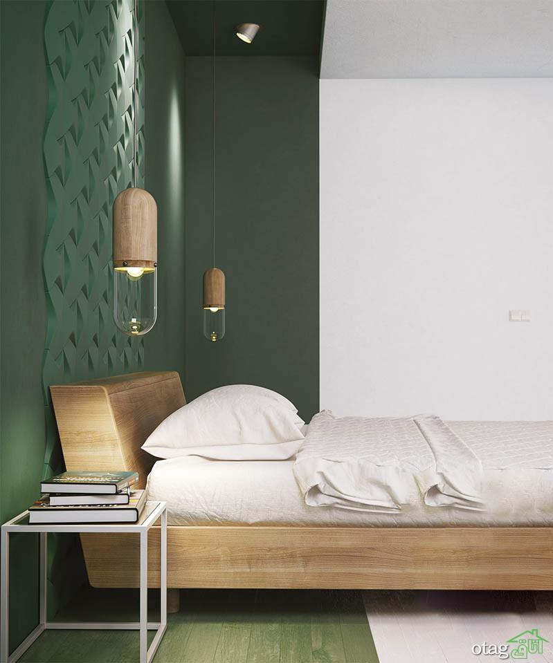 40 نمونه رنگ اتاق خواب بزرگسال جدید و نوآورانه با تم سبز