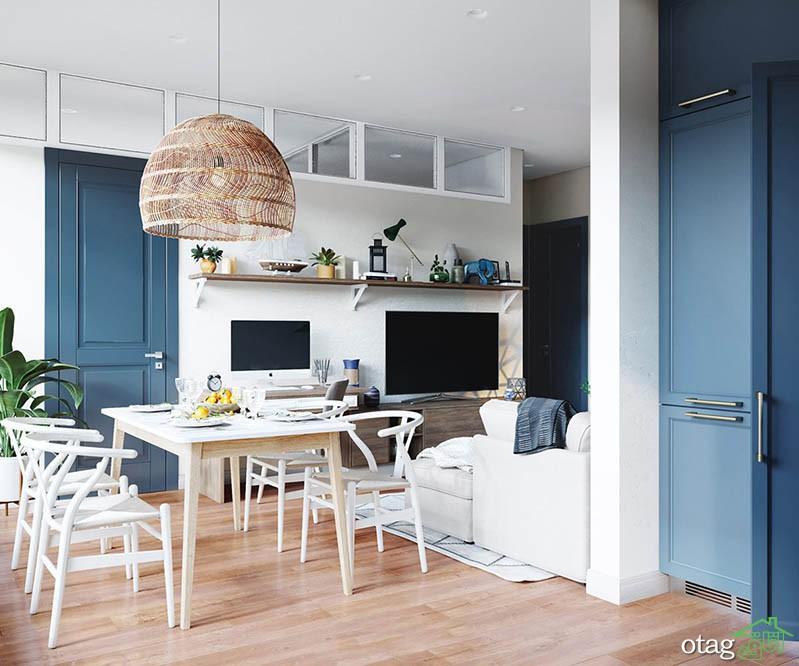 معرفی مدل هایی زیبا از دیزاین خانه با رنگ آبی در سال جدید